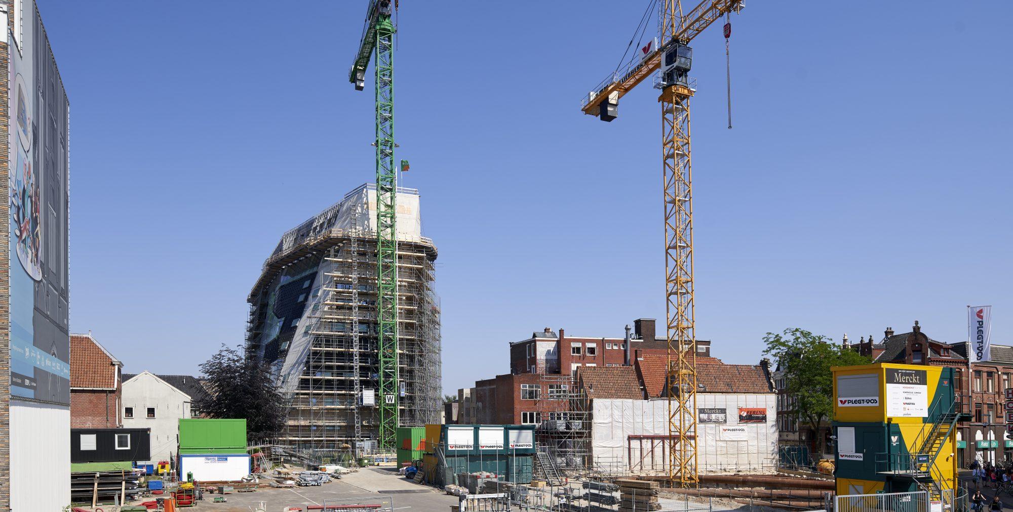 Voortgang bouw Merckt Groningen